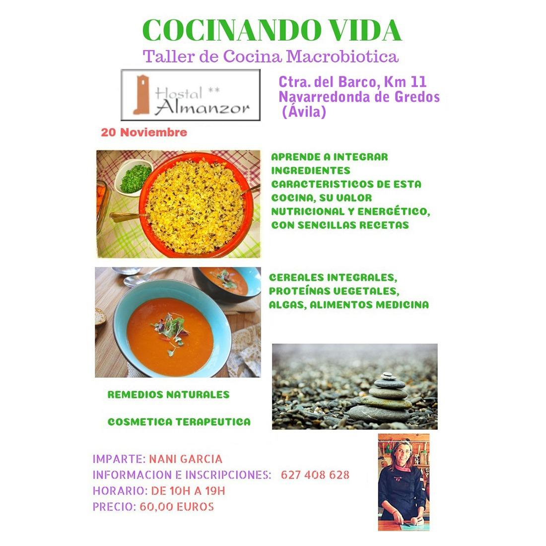 Taller de cocina macrobiótica en Gredos